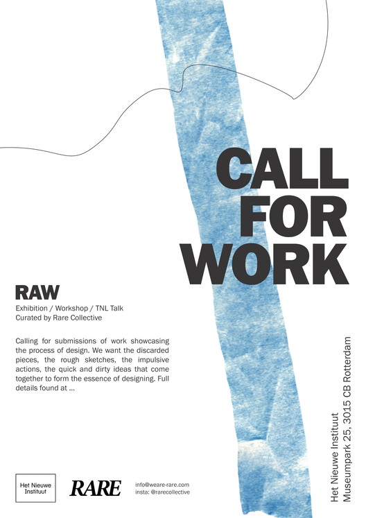 RAW Exhibition, Call for submission, Call for work poster, RAW exhibition, RARE collective 2021