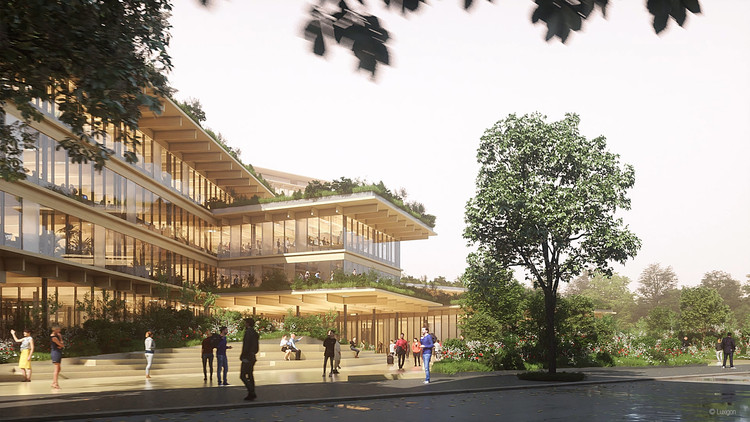 Kengo Kuma to Design Milan's Biophilic Office of the Future, Courtesy of Luxigon