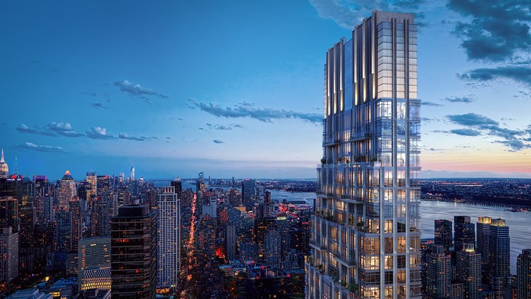 200 Amsterdam to Become New York's Tallest Skyscraper on the Upper West Side, Courtesy of Binyan Studios