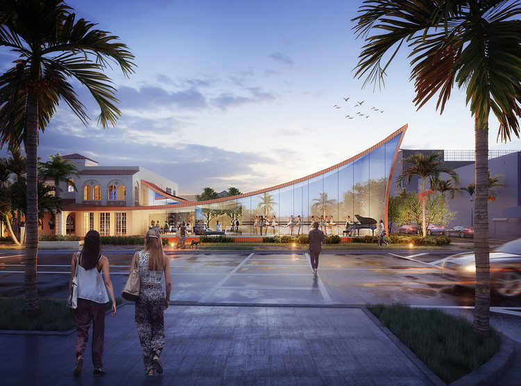 Brooks + Scarpa Design Sweeping New Arts & Culture Center for Hollywood, Florida, Courtesy of Brooks + Scarpa