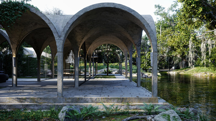 Marc Thorpe Designs House of Four Gardens along Savannah River Tributary