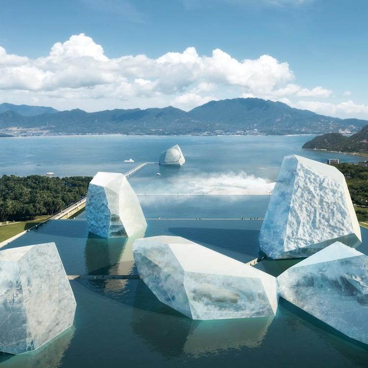 "OPEN diseña ""icebergs"" de vidrio para el Museo Marítimo de Shenzhen, Cortesía de Open Architecture"