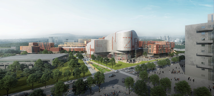 Miralles Tagliabue EMBT Wins Competition to Design Shenzhen's Conservatory of Music, Courtesy of Miralles Tagliabue EMBT