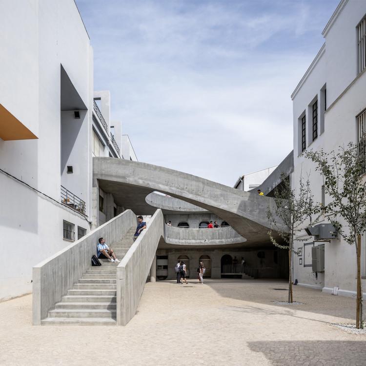 #revolucionenelpatio, mejora en los patios de la Universidad de Málaga / DJarquitectura, © Jesus Granada
