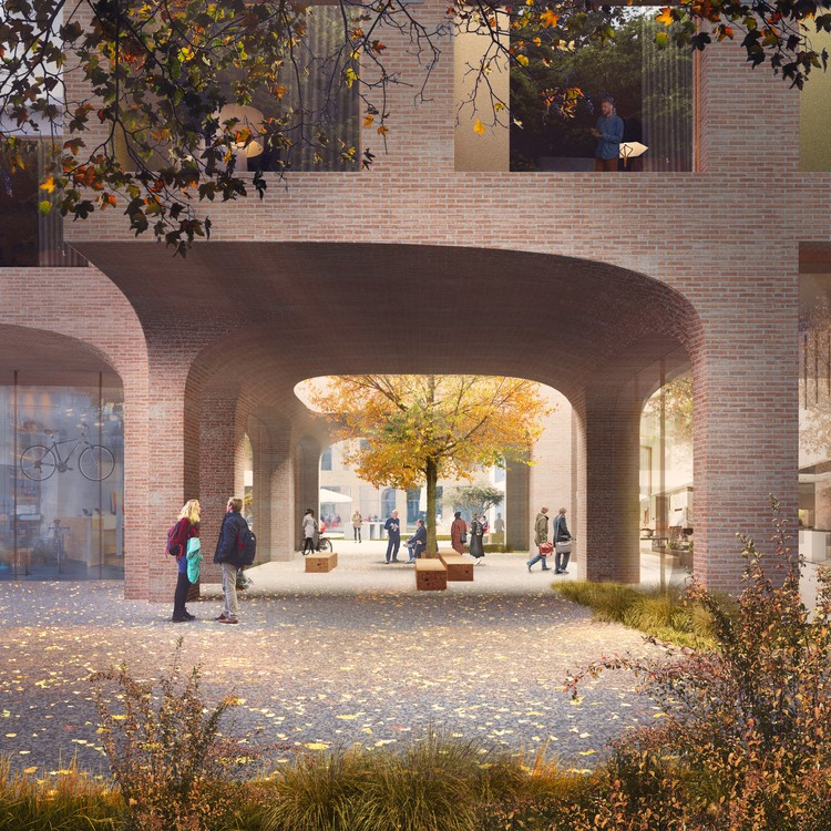 """Powerhouse Team Wins Competition for """"Urban Woodland"""" in the Netherlands, Courtesy of Proloog"""