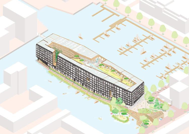 Felixx e Orange projetam conjunto habitacional sobre uma ilha artificial em Amsterdã, Cortesia de Felixx