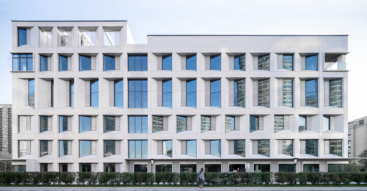 """Renovation of Hangzhou Old Chemical Fiber Factory / LYCS Architecture, North facade of """"Little White Building"""". Image © Qingshan Wu"""