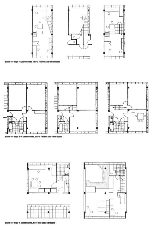 Narkomfin Apartment Type Plans