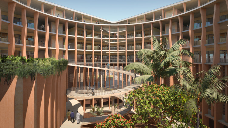Francis Kéré Receives the 2021 Thomas Jefferson Foundation Medal in Architecture , Benin's National Assembly in Porto-Novo Proposal. Image Courtesy of Kéré Architecture