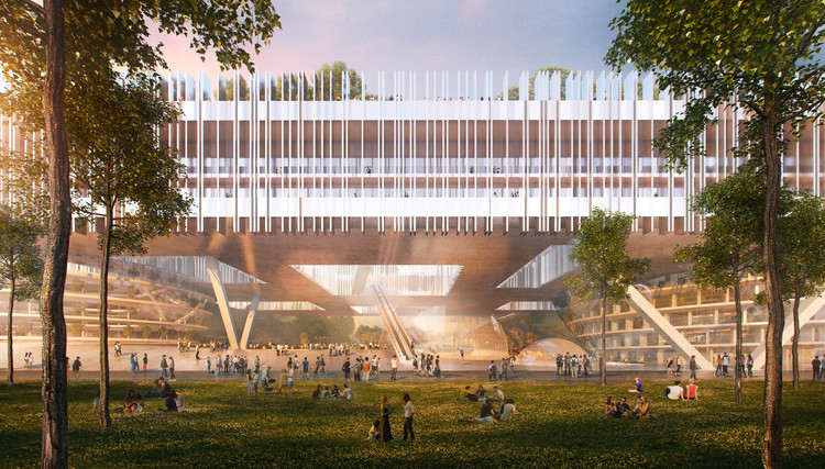 Dominique Perrault Architecture Wins Competition for Shenzhen's Institute of Design and Innovation, Courtesy of Dominique Perrault Architecture