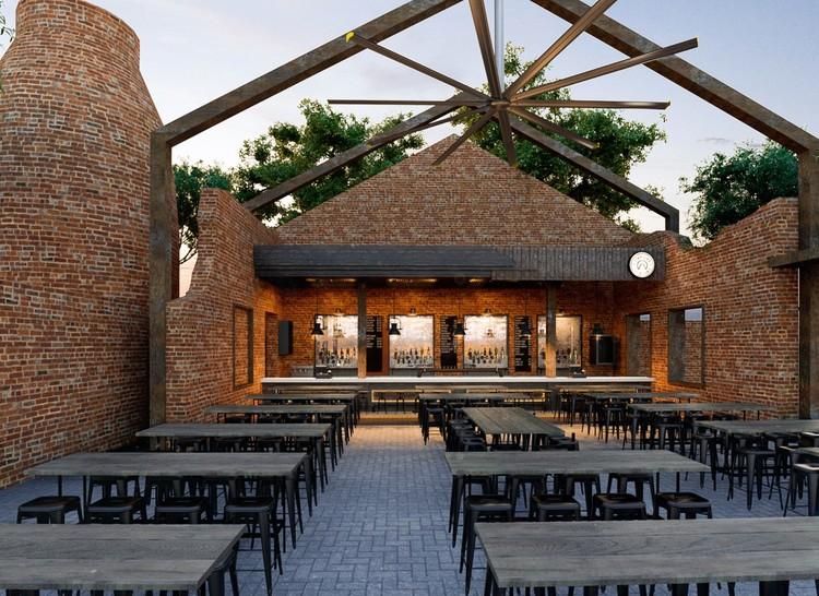 Bar parque La Ruina / Tamen Arquitectura.  Imagen © Alexander Potiomki