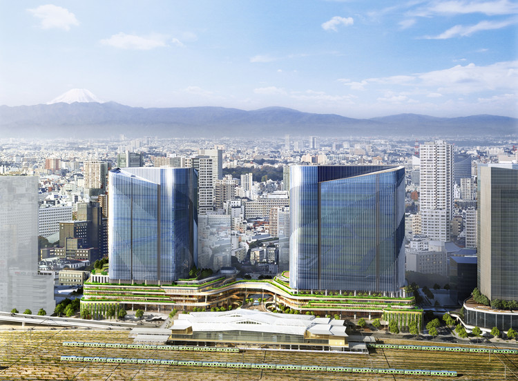 Pickard Chilton Completes Master Plan for the Global Gateway Shinagawa, © Atchain Courtesy of Pickard Chilton