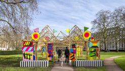 See Through Bamboo Installation / Morag Myerscough