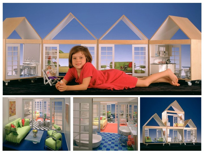 As a teenager, Marion Weiss designed a set of dollhouses.  Image © Jock Pottle / Esto