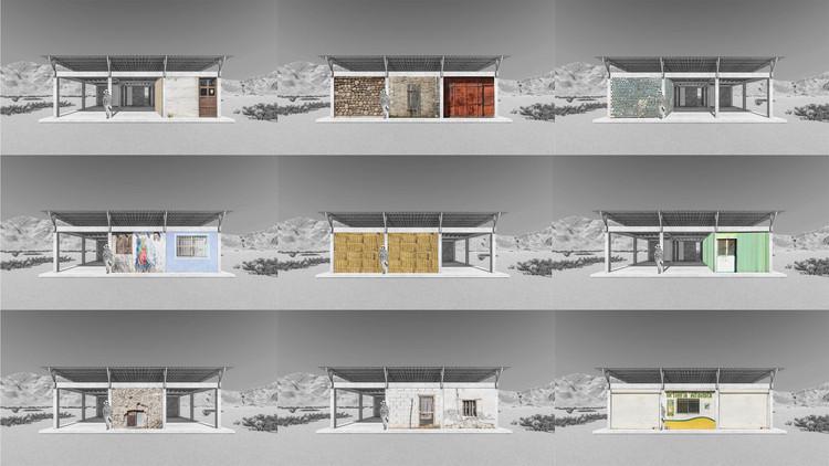 Esquema - Habitação rural de autoprodução assistida / JC Arquitectura + Kiltro Polaris Arquitectura