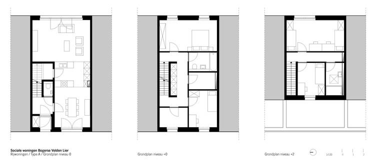 Planta - Bogerse Velden Social Housing / META architectuurbureau