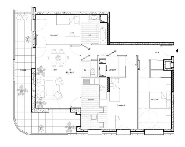Planta - Boulevard Ney Social Housing / ITAR Architectures