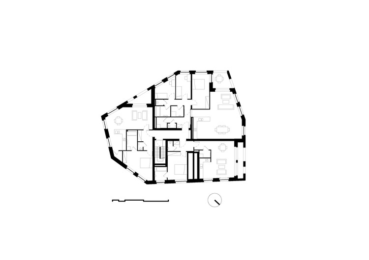 Planta - Fontainas Island Reconfiguration / B612 architectes