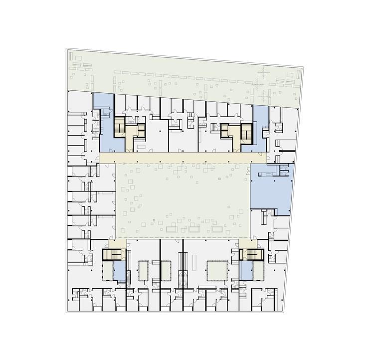 Planta - CODHA Apartment Building / Dreier Frenzel Architecture + Communication