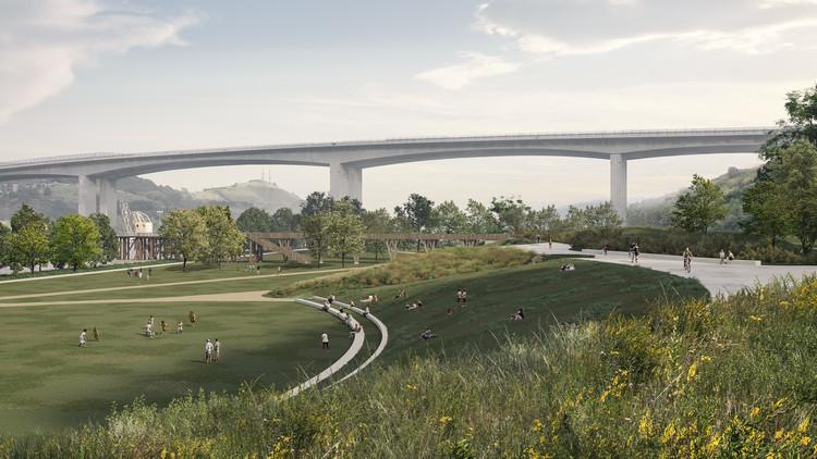 Burgos & Garrido to Design the Nervión River Park in Barakaldo, Spain, Perspectiva. Image Cortesía de Burgos & Garrido Arquitectos