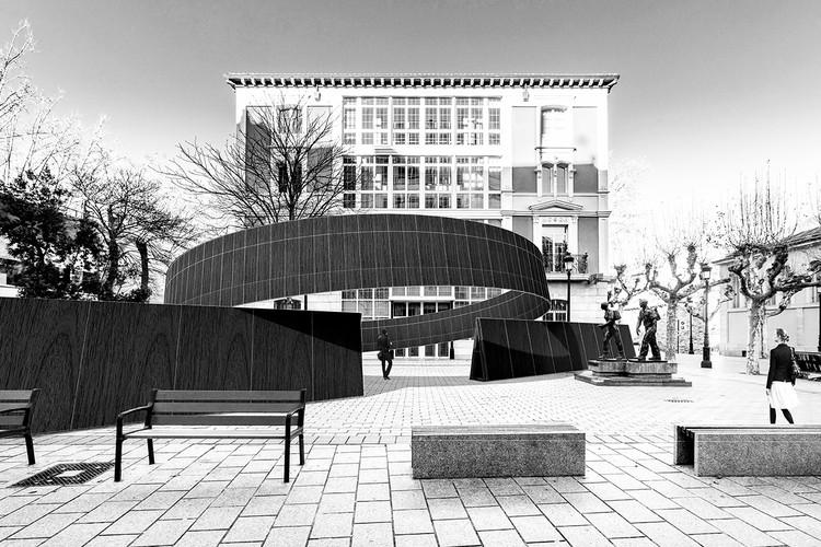 Concéntrico 07 anuncia proyectos ganadores para Plaza Escuelas Trevijano, Paseo del Ebro y Viña Lanciano, © sauermartins + mau mendez. ImagePlaza Escuelas Trevijano