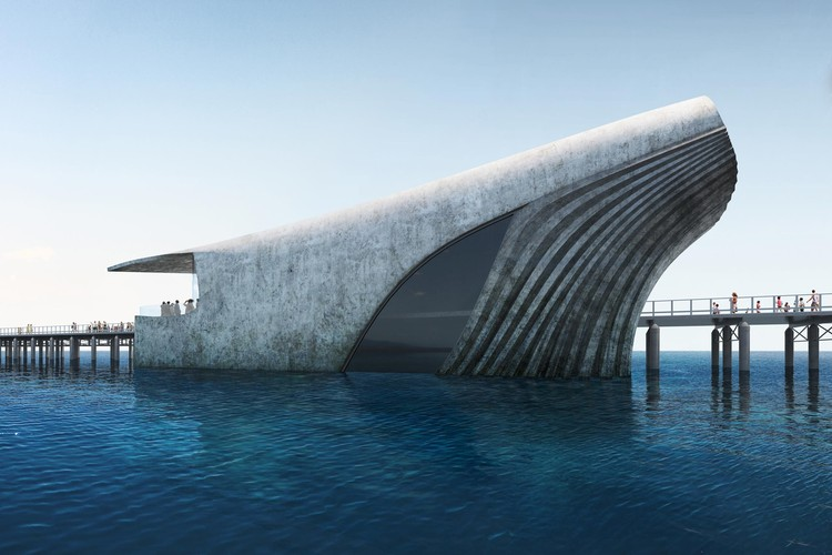 World's Largest Natural Marine Observatory Takes the Shape of a Whale, Courtesy of Baca Architects