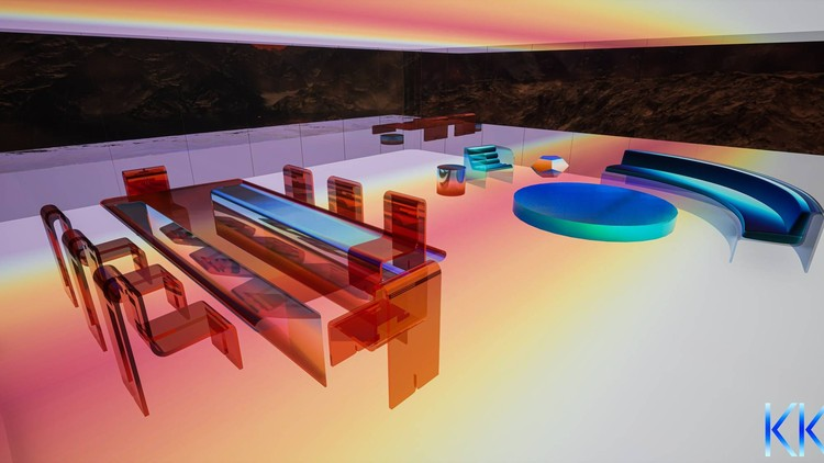 Mars House, First Digital Home to be Sold on the NFT Marketplace. Courtesy of Krista Kim