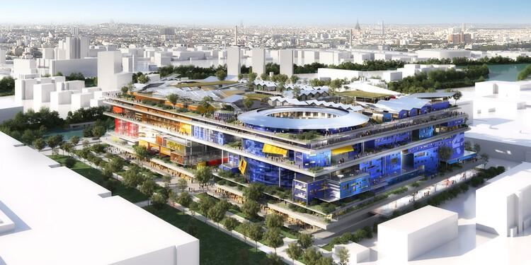 Jean Nouvel Designs New Vertical Neighbourhood in Paris, Courtesy of Ateliers Jean Nouvel