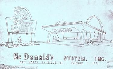 Original McDonalds Blue Prints