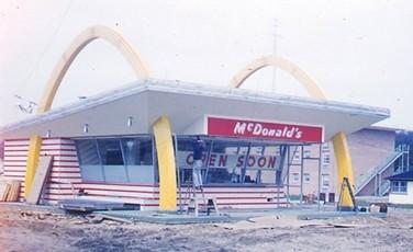 Grand Opening of McDonalds in DeKalb, Illinois- 1960