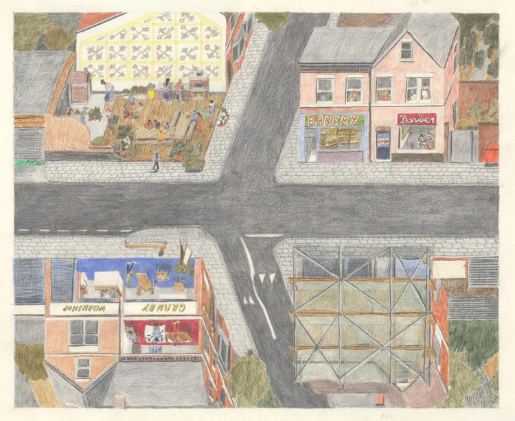 Explorando nuevas formas de colaboración a través de la arquitectura Do-It-Together (DIT) , © Assemble. Image Granby Four Streets. Los arquitectos (Assemble) reconocieron el esfuerzo y los logros de los residentes locales, por lo que el diseño fue un intento de reforzar este legado local.