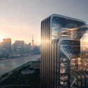 Zaha Hadid Architects to Design CECEP's HQ in Shanghai. Render by Negativ.com. Image © Zaha Hadid Architects