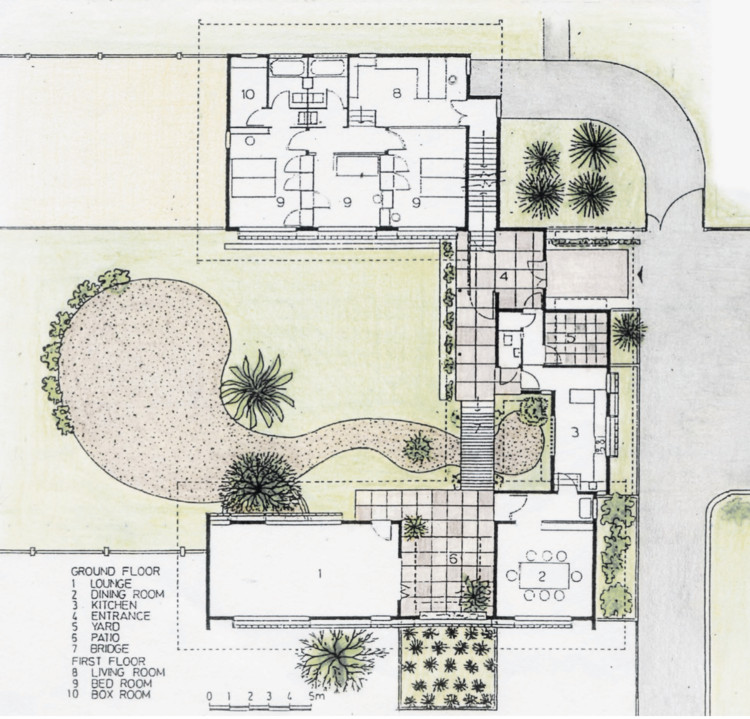 Plan drawing of the Almeida Residence by Anthony Almeida. Image © Anthony Almeida