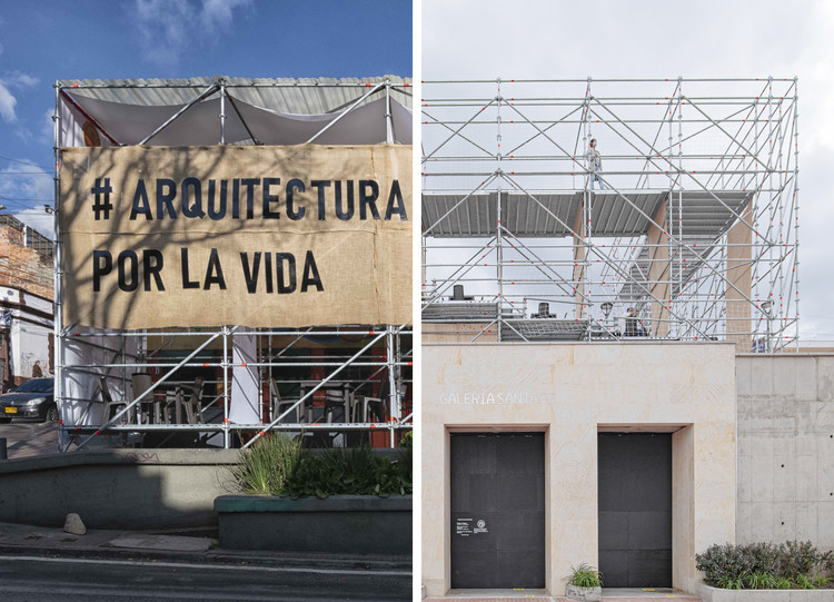 Colombia tiene dos proyectos finalistas en los 2021 AZ Awards, Izquierda - Instalación Activación Vertical. y derecha - La Concordia: Anfiteatro
