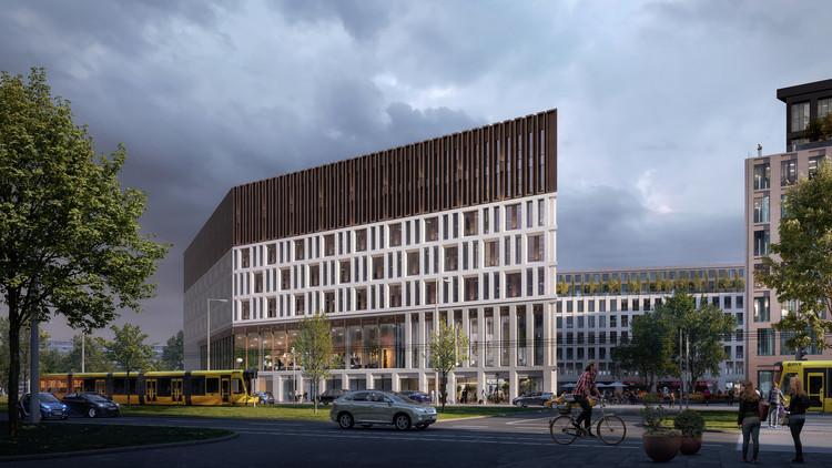 Barcode Architects und Tchoban Voss Architects veranschaulichen den kulturellen Wandel Deutschlands in Dresdens neuem Hauptsitz, © WAX Architectural Visualization