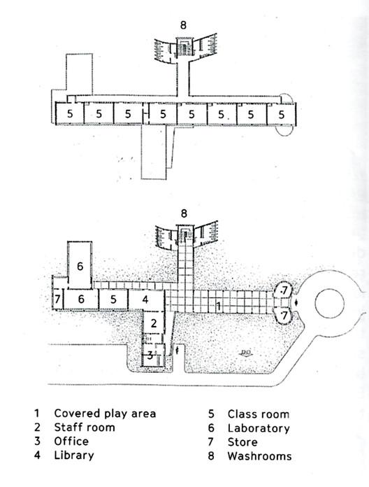 Floor plan of St. Xavier's Primary School. Image © Anthony Almeida