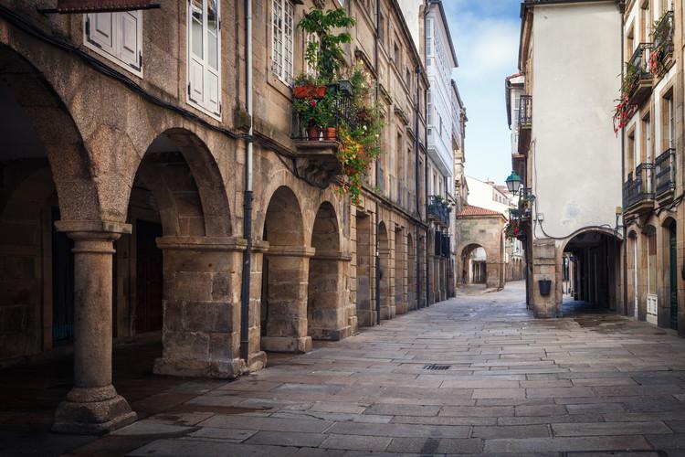 The pedestrian streets of Santiago de Compostela, Spain.  Image © Jose Arcos Aguilar |  Shutterstock