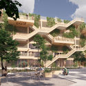 Open Platform and JAJA Architects Win Competition to Design Denmark's First Wooden Parking House. Image © JAJA Architects + Open Platform