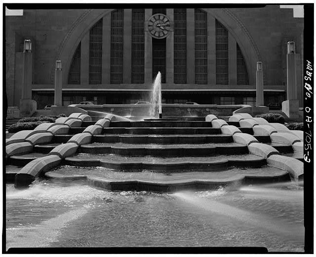Cincinnati Union Terminal, HABS/HAER/HALS. Image Courtesy of The Library of Congress