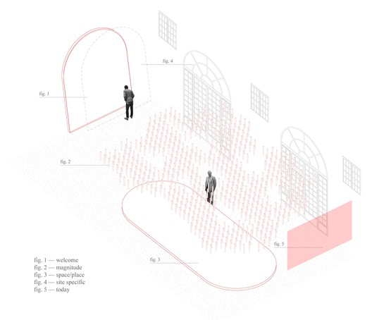 Axonometric drawing of the exhibition The Common in Community . Image © Obrat d.o.o