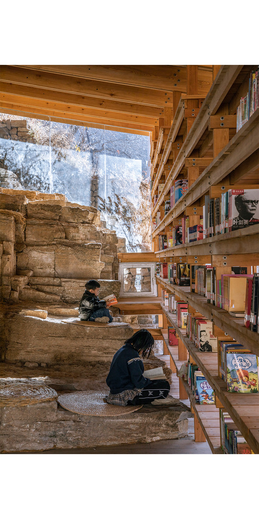 """Winner for the year 2021 in architectural design: """"Zheshui Natural Library"""" by LUO studio. ImagePhoto © Jin Weiqi"""