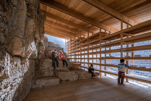 """Winner for the year 2021 in architectural design: """"Zheshui Natural Library"""" by LUO studio. Image Photo © Jin Weiqi"""