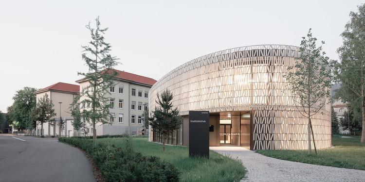 "Solarlux Choice 2021""Public Library, Dornbirn"" by Dietrich | Untertrifaller with Christian Schmoelz and collaborators. Image. Photo © Aldo Amoretti"