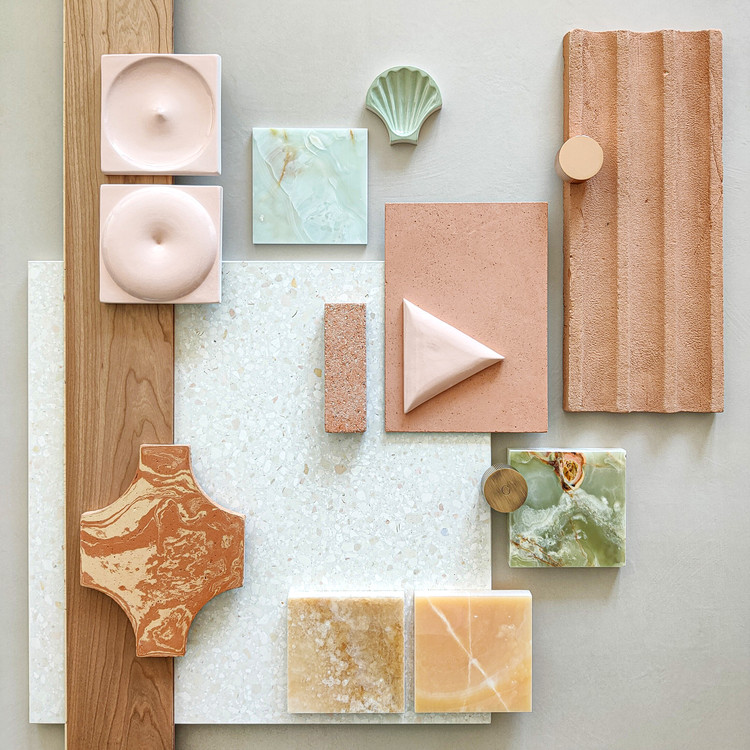 The Art of Visual Communication: 12 Tips for Creating Powerful Mood Boards, Created and portrayed by Materia 2.0, architectural materials library based in Como - Italy. Image © Materia 2.0