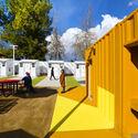 Chandler Boulevard Bridge Home Village. Image Courtesy of Lehrer Architects