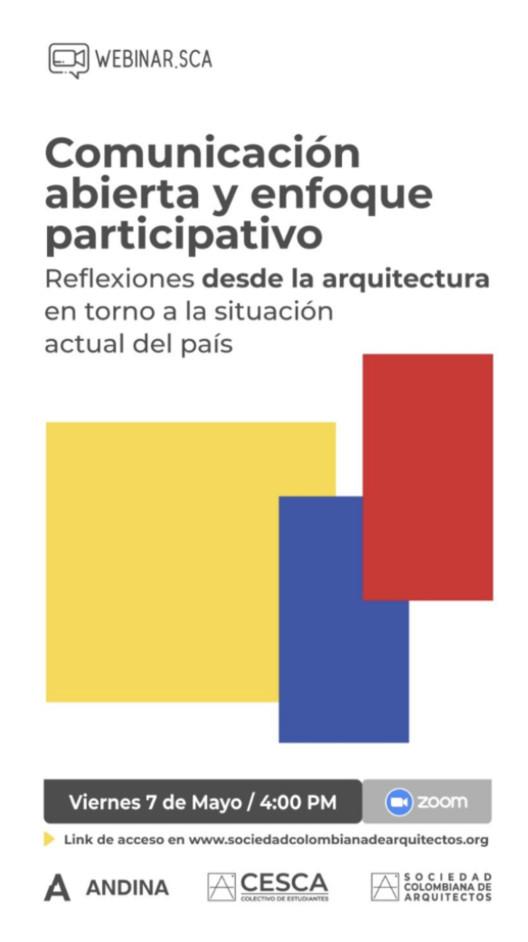 Reflexiones desde la arquitectura en torno a la situación actual de Colombia, SCA