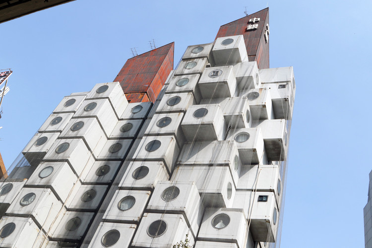 Nakagin Capsule Tower Could Face Demolition, Kisho Kurokawa's Nakagin Capsule Tower in Tokyo, Japan. Image © ct_photo | Shutterstock