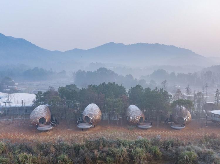 Cabañas Semillas / ZJJZ, vista aérea. Image © Fangfang Tian