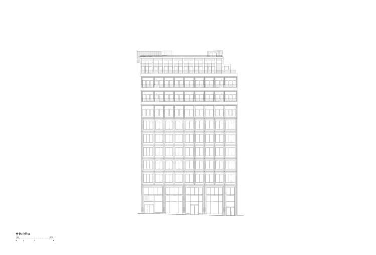 H building - Elevation