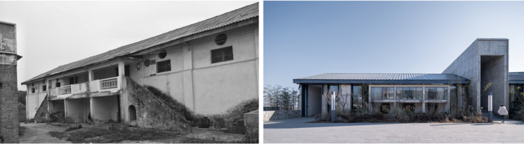 Comparison of old and new of the No. 7 granary. Image Courtesy of HOMME ARCHITECTS